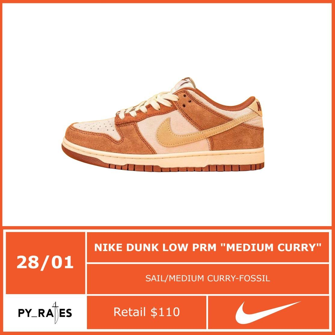 "Nike Dunk Low PRM ""Medium Curry"""