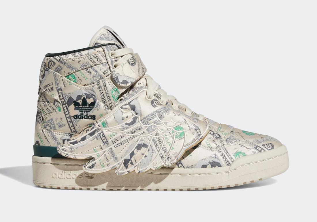 "Jeremy Scott x adidas Forum Wings 1.0 ""Money"""