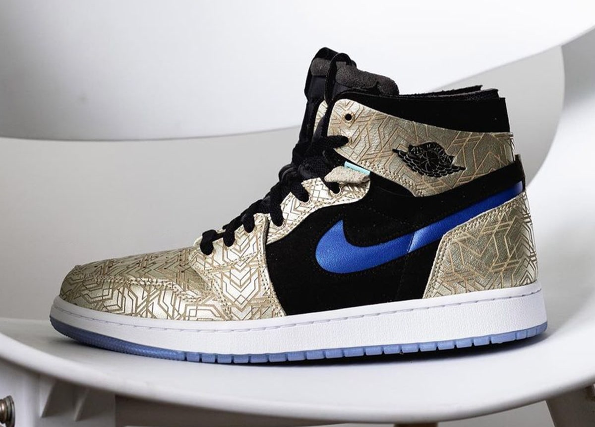 """ナイキ エアジョーダン1 ズーム コンフォート """"ゴールド レーザー"""" Nike Air Jordan 1 Zoom CMFT """"Gold Laser"""""""