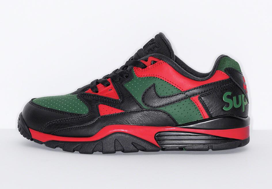 シュプリーム×ナイキ エアクロストレーナー3 ロー Supreme × Nike Air Cross Trainer 3 Low Black/Black/Gorge Green/ University Red