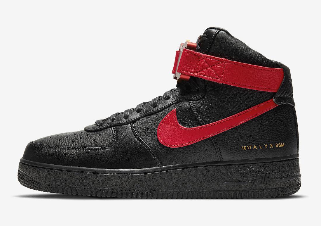 1017 アリクス 9SM × ナイキ エアフォース 1 ハイ 2カラーUniversity Red/Black 1017 ALYX 9SM × Nike Air Force 1 High 2colors