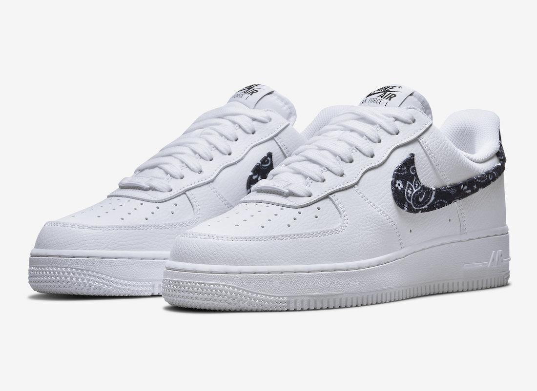 """ナイキ エア フォース 1 '07 エッセンシャル """"ペイズリー"""" 2カラー Nike Air Force 1 '07 Essential """"Black Paisley"""""""