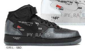 オフホワイト × ナイキ エアフォース1 ミッド 2カラー Off-White × Nike Air Force 1 Mid 2Colors Black/Clear-Black