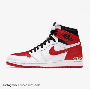"""エアジョーダン1 レトロ ハイ オージー """"ヘリテージ"""" Air Jordan 1 Retro High OG """"Heritage""""White/University Red-Black"""